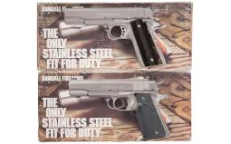 Two Randall Firearms Semi-Automatic Pistols