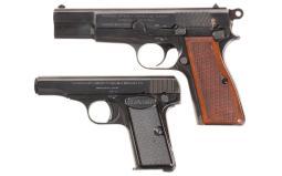 Two Belgian-Made Semi-Automatic Pistols