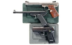 Three Ruger Semi-Automatic Pistols with Cases
