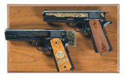 Two Colt Commemorative Model 1911 Semi-Automatic Pistols