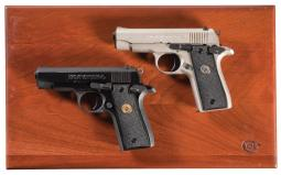 Cased Colt .380 Deluxe Two Semi-Automatic Pistol Set with Boxes