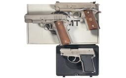Three AMT Semi-Automatic Pistols