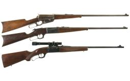 Three Sporting Lever Action Rifles