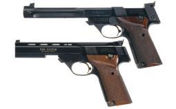 Two High Standard Semi-Automatic Pistols
