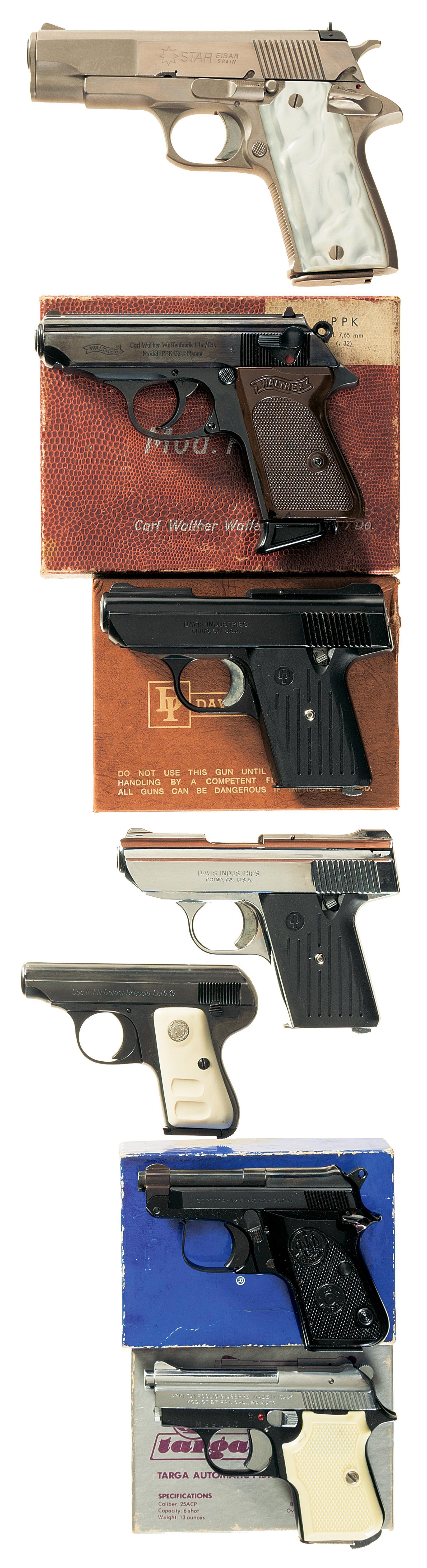 Seven Semi-Automatic Pistols