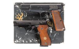 Two Browning Semi-Automatic Pistols