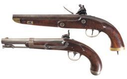 Two Antique Martial Pistols