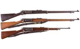 Three U.S. Springfield Armory Krag-Jorgensen Bolt Action