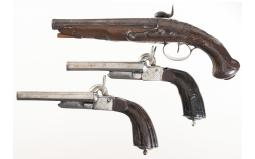Three Antique European Handguns