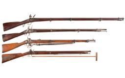 Four Muzzle Loaders
