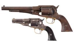 Two Antique Remington Cartridge Revolvers