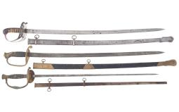 Three Swords with Scabbards