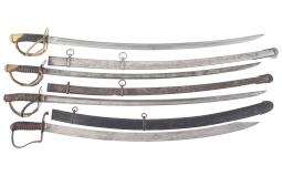 Four American Style Swords