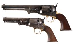 Two Navy Caliber Percussion Revolvers