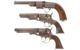 Three Percussion Revolvers