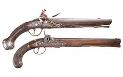 Two European Muzzle Loading Pistols