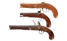 Three Antique European Pistols