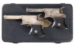 Case Pair of Remington Vest Pocket Derringers