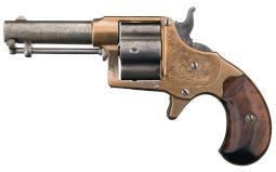 Early Factory Engraved Colt Cloverleaf House Model Revolver