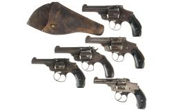 Five Smith & Wesson Double Action Revolvers