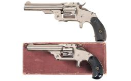 Two Smith & Wesson Top Break Spur Trigger Revolvers