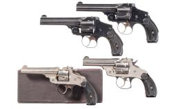 Four Smith & Wesson Top Break Double Action Revolvers