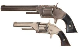 Two Smith & Wesson Antique Revolvers