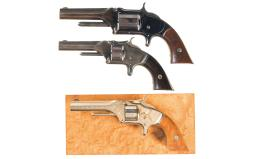 Three Smith & Wesson Antique Revolvers