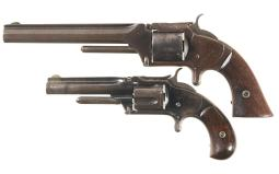 Two Antique Smith & Wessson Revolvers