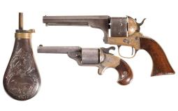 Collector's Lot of Two Factory Engraved Moore's Patent Revolvers