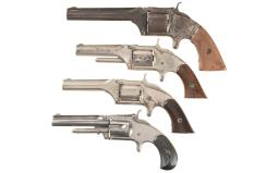 Four Smith & Wesson Spur Trigger Revolvers