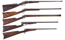 Five Single Shot Rifles