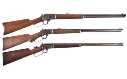 Three Marlin Lever Action Rifles