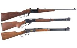 Three Lever Action Long Guns