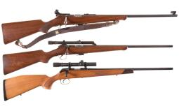 Three Bolt Action Rifles