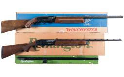 Two Semi-Automatic Shotguns with Boxes