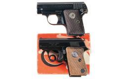 Two Colt Semi-Automatic Pocket Pistols