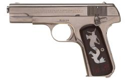 Colt Model 1903 Hammerless Semi-Automatic Pistol with Documents
