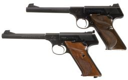 Two Colt Target Model Woodsman Semi-Automatic Pistols