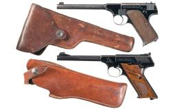 Two Colt Rimfire Sporting Semi-Automatic Pistols