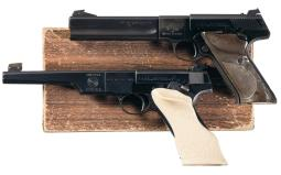 Two Colt Woodsman Match Target Semi-Automatic Target Pistols