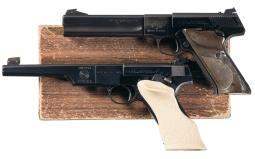 Two Colt Woodsman Match Target Semi-Automatic Target Pistols