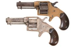 Two Colt Cloverleaf Revolvers