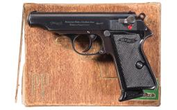 Boxed Pre-War Walther Model PP .22 Caliber Semi-Automatic Pistol