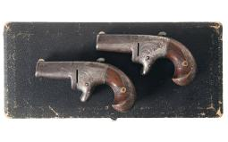 Pair of National Arms Co. No. 2 Derringers with Case