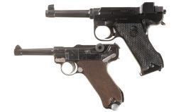 Two World War II Era European Military Semi-Automatic Pistols