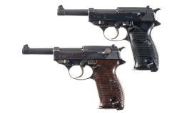 Two German Semi-Automatic P-38 Pistols