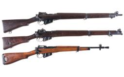 Three Bolt Action British Military Longarms