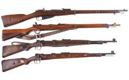 Four Bolt Action Military Long Guns