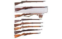 Eight Military Bolt Action Long Guns